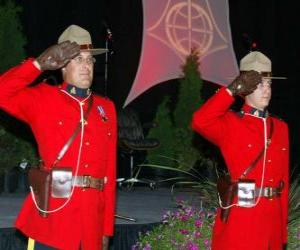 puzzel Politie officier van de Royal Canadian Mounted Police