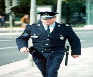 puzzel Politieagent of politie