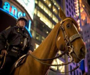 puzzel Politieagent paard