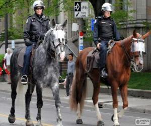 puzzel Politieagenten te paard