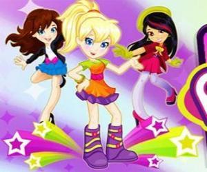 puzzel Polly dansen met een paar vrienden