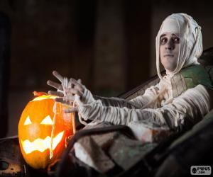 puzzel Pompoen en Mummie, Halloween