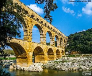 puzzel Pont du Gard, Frankrijk
