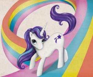 puzzel Pony over de regenboog