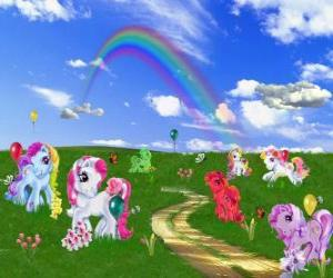 puzzel Pony's in het veld