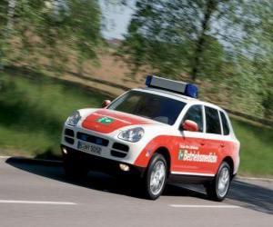 puzzel Porsche Cayenne Ambulance