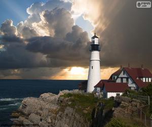 puzzel Portland hoofd licht vuurtoren, Verenigde Staten