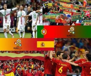 puzzel Portugal - Spanje, halve finales Euro 2012