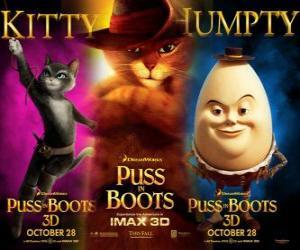 puzzel Poster van de film De Gelaarsde Kat