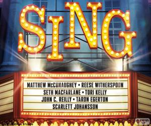 puzzel Poster voor Sing