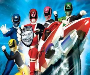 puzzel Power Rangers SPD. Space Patrol Delta