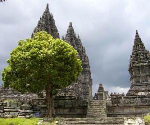 puzzel Prambanan, Indonesië.
