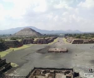 puzzel Precolumbiaanse stad Teotihuacan