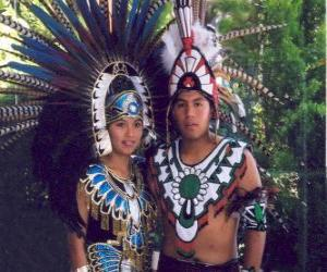 puzzel Prins en prinses Aztec