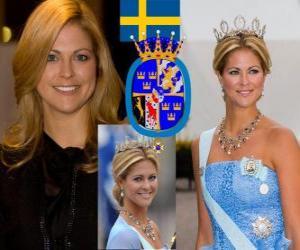 puzzel Prinses Madeleine van Zweden