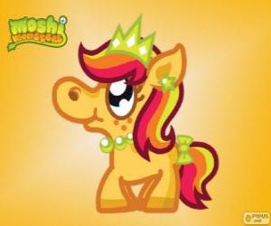 puzzel Priscilla. Moshi Monsters. De prinses Pony