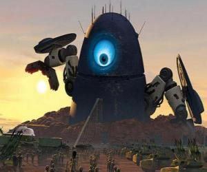 puzzel Probe robot, de robot vreemdeling
