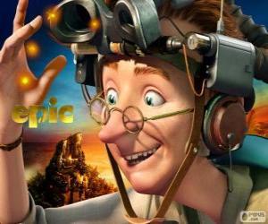 puzzel Professor Bomba, een excentrieke wetenschapper