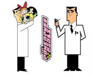 puzzel Professor Utonium wordt de maker van The Powerpuff Girls