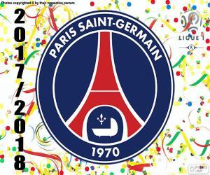 puzzel PSG, Kampioen Ligue 1 2017-2018