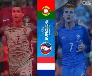 puzzel PT-FR, einde Euro 2016