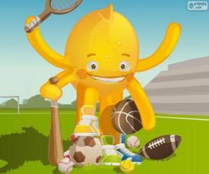 puzzel Pypus en de sport