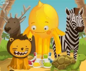puzzel Pypus met de dieren