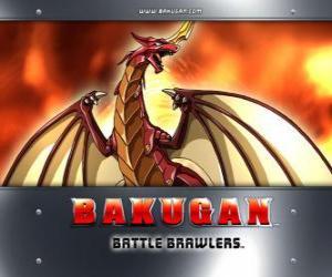 puzzel Pyrus Drago is de hoedster van Dan Bakugan