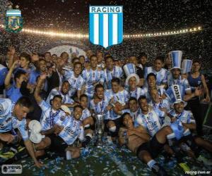 puzzel Racing Club de Avellaneda, kampioen van het Torneo de Transición 2014 in Argentinië