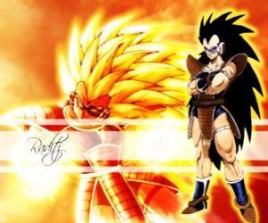 puzzel Raditz, een Saiyan, Son Goku oudere broer, die in geslaagd om de vernietiging van de planeet Vegeta overleven