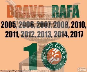 puzzel Rafa Nadal, 10 Roland Garros