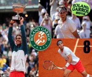 puzzel Rafael Nadal kampioen Roland Garros 2013