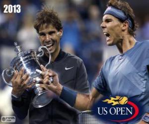 puzzel Rafael Nadal kampioen US Open 2013