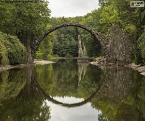 puzzel Rakotzbrucke Duivelsbrug, Duitsland