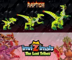 puzzel Raptor, laatste evolutie. Invizimals The Lost Tribes. Gevaarlijke jager die snelle, slimme, agressieve