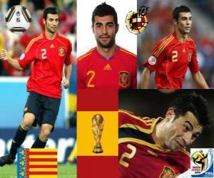puzzel Raul Albiol (wordt gedood door een PIN-code) Spaanse team de verdediging