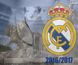 puzzel Real Madrid kampioen 2016-2017