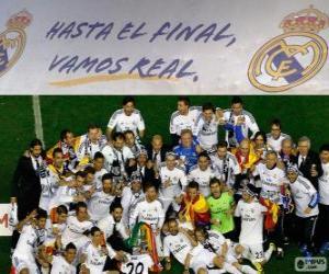 puzzel Real Madrid kampioen Copa del Rey 2013-2014