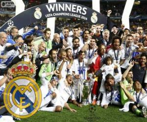 puzzel Real Madrid, kampioen van de UEFA Champions League 2013-2014