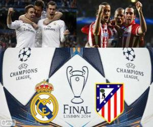 puzzel Real Madrid vs Atl.. Definitieve UEFA Champions League 2013-2014. Estadio da Luz, Lissabon, Portugal