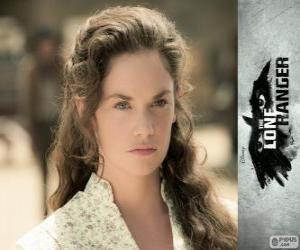 puzzel Rebecca Reid (Ruth Wilson) in de film Lone Ranger