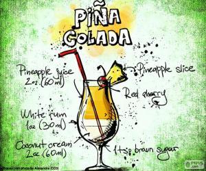 puzzel Recept voor Piña Colada