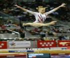 Ritmische gymnastiek - Oefening in de balk