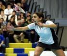 Badmintonspeelster