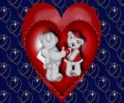 Beren in liefde met twee harten
