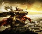 Minotaur - Giant monster met een menselijk lichaam en stierenkop als een gewapend krijger