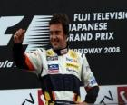 Fernando Alonso in het podium