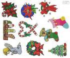 Kerst ornamenten tekeningen