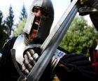 Warrior vechten een strijd