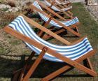 Strandstoel vouwen